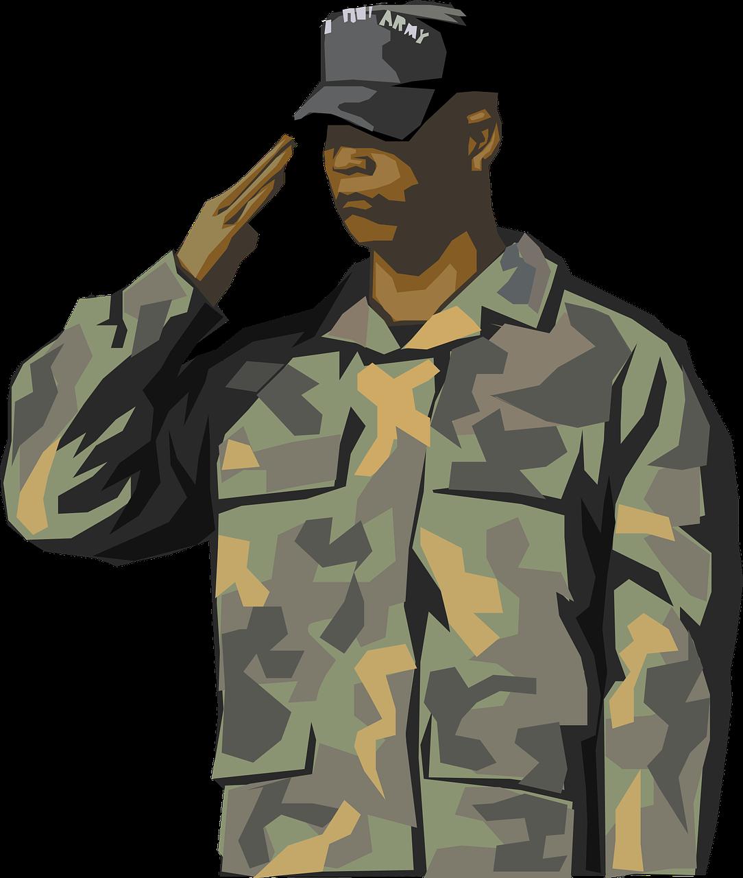 חייל מצדיע